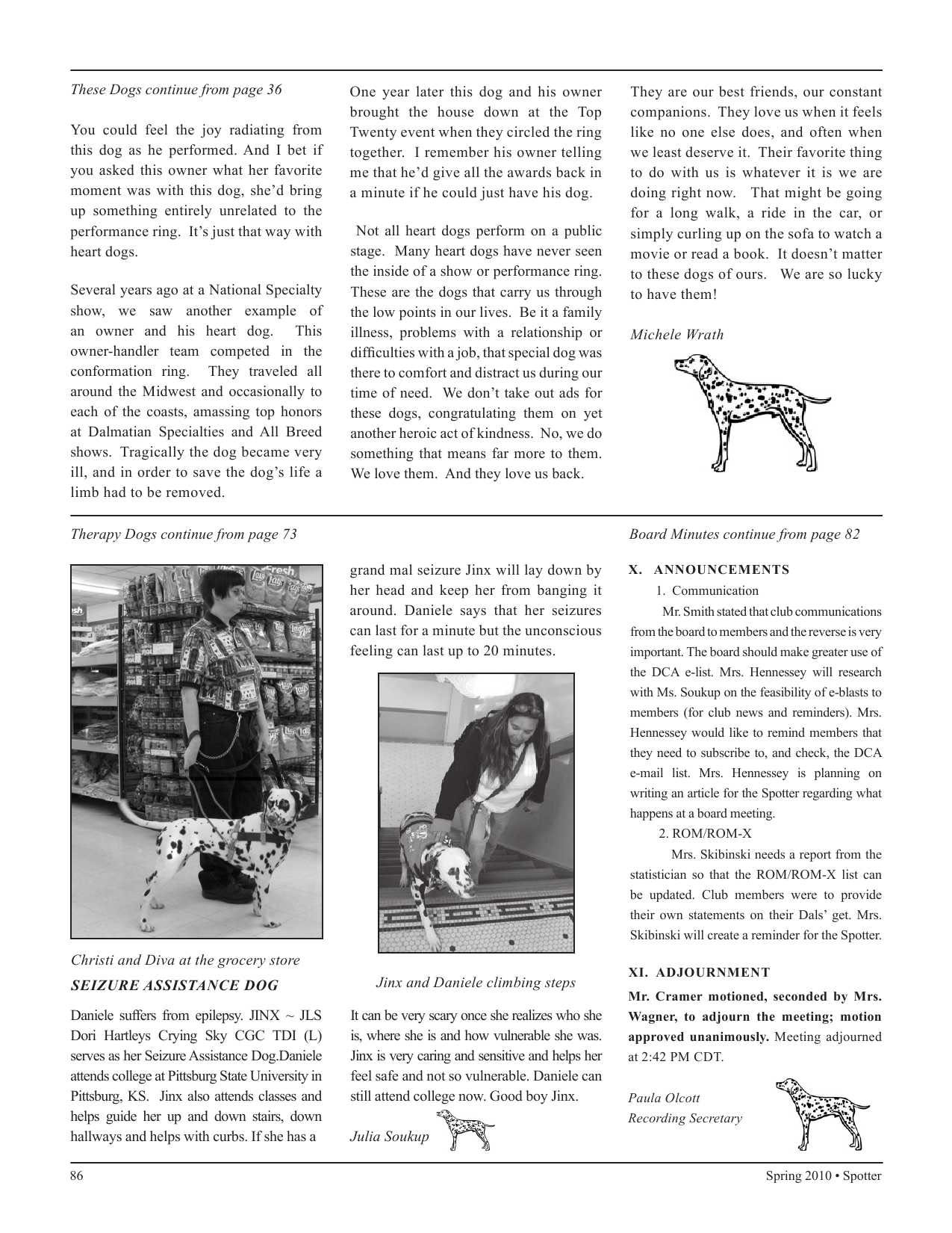 Service Dog Dalmatians